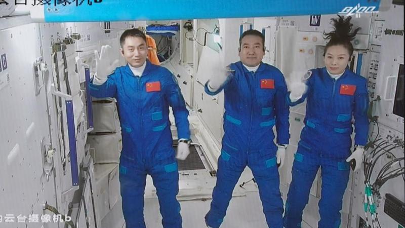 中国「神舟13号」打ち上げ成功 飛行士3人が宇宙ステーションに