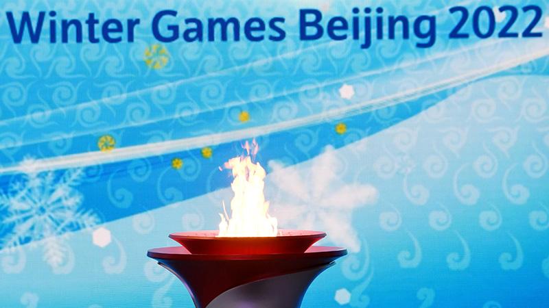 冬季五輪の聖火、北京に到着