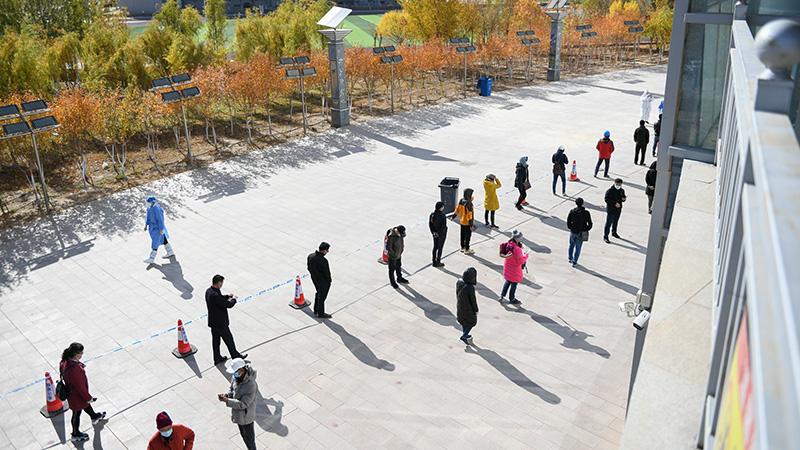 内モンゴル自治区エジン旗、住民全員に3回目の核酸検査を実施